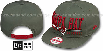 Buccaneers NFL LATERAL SNAPBACK Grey Hat by New Era
