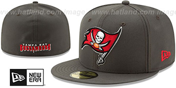 Buccaneers 'NFL TEAM-BASIC' Grey Fitted Hat by New Era
