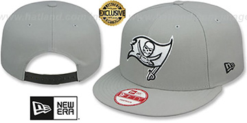Buccaneers 'NFL TEAM-BASIC SNAPBACK' Grey-Black Hat by New Era