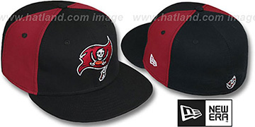 Buccaneers PINWHEEL-2 Black-Burgundy Fitted Hat