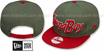 Buccaneers SNAP-IT-BACK SNAPBACK Grey-Red Hat by New Era