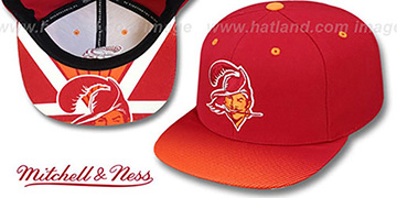 Buccaneers 'STOP-ON-A-DIME SNAPBACK' Red-Orange Hat by Mitchell and Ness