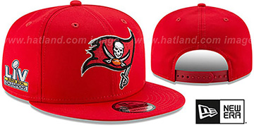 Buccaneers SUPER BOWL LV CHAMPS SNAPBACK Red Hat by New Era