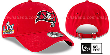 Buccaneers SUPER BOWL LV CHAMPS STRAPBACK Red Hat by New Era