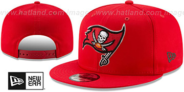 Buccaneers TEAM-BASIC SNAPBACK Red Hat by New Era