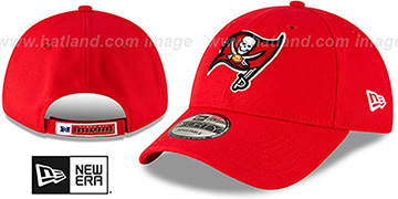 Buccaneers THE-LEAGUE STRAPBACK Red Hat by New Era
