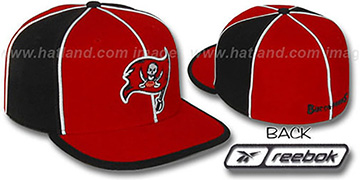 Buccaneers WILDSIDE Red-Black Fitted Hat by Reebok