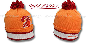 Buccaneers XL-LOGO BEANIE Orange by Mitchell and Ness
