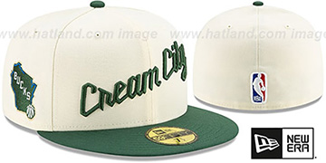 Bucks 19-20 CITY-SERIES Cream-Green Fitted Hat by New Era