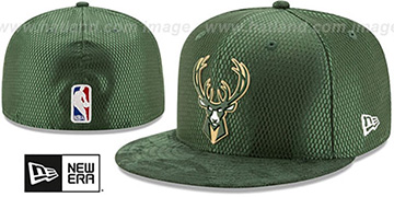 Bucks '2017 ONCOURT DRAFT' Green Fitted Hat by New Era