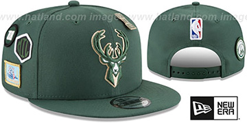 Bucks '2018 NBA DRAFT SNAPBACK' Green Hat by New Era