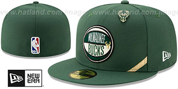 Bucks 2019 NBA DRAFT Green Fitted Hat by New Era