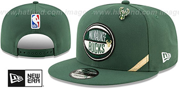Bucks 2019 NBA DRAFT SNAPBACK Green Hat by New Era