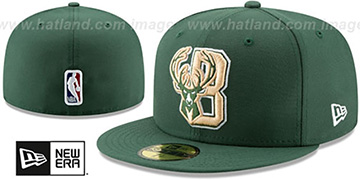 Bucks DECEPTORED Green Fitted Hat by New Era