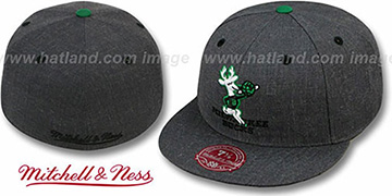 Bucks 'GREY HEDGEHOG' Fitted Hat by Mitchell & Ness