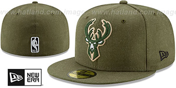 Bucks 'HEATHER-CRISP' Green Fitted Hat by New Era