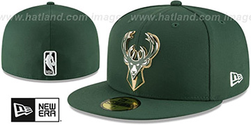 Bucks 'METAL-N-THREAD' Green Fitted Hat by New Era