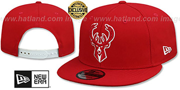 Bucks TEAM-BASIC SNAPBACK Red-White Hat by New Era