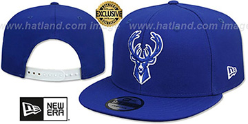 Bucks TEAM-BASIC SNAPBACK Royal-White Hat by New Era