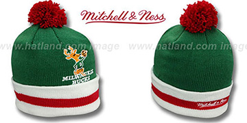 Bucks XL-LOGO BEANIE Green by Mitchell and Ness