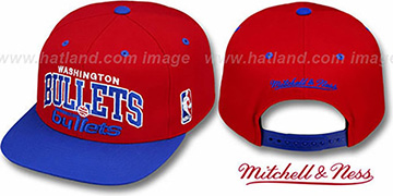 Bullets '2T TEAM ARCH SNAPBACK' Adjustable Hat by Mitchell and Ness