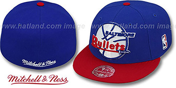 Bullets '2T XL-LOGO' Royal-Red Fitted Hat by Mitchell & Ness