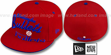 Bullets 'BIG-SCRIPT' Red Fitted Hat by New Era