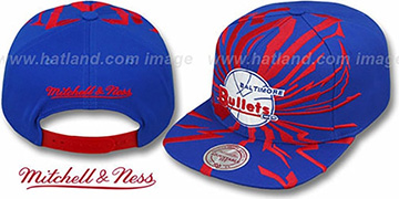 Bullets 'EARTHQUAKE SNAPBACK' Royal Hat by Mitchell & Ness