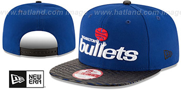 Bullets 'HWC LEATHER-RIP SNAPBACK' Royal-Black Hat by New Era