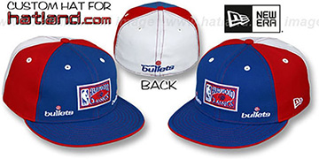 Bullets 'HWC TRIPLE THREAT' Royal-Red-White Fitted Hat by New Era