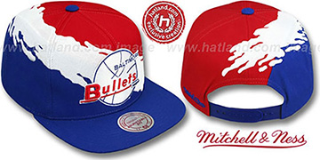 Bullets 'PAINTBRUSH SNAPBACK' Red-White-Royal Hat by Mitchell & Ness