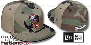 Bullets RETROMAN CAMO PINWHEEL Woodland-Tan Fitted Hat