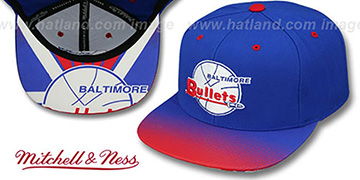 Bullets 'STOP-ON-A-DIME SNAPBACK' Royal-Red Hat by Mitchell and Ness