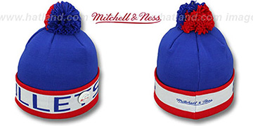 Bullets THE-BUTTON Knit Beanie Hat by Michell & Ness