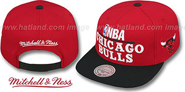 Bulls  'MEDIA-DAY SNAPBACK' Red-Black Hat by Mitchell & Ness