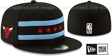 Bulls 18-19 CITY-SERIES Black Fitted Hat by New Era