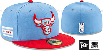 Bulls 19-20 CITY-SERIES Sky-Red Fitted Hat by New Era