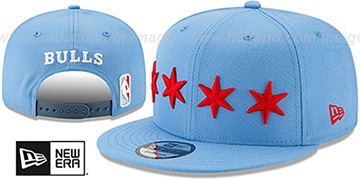 Bulls 19-20 CITY-SERIES ALTERNATE SNAPBACK Sky Hat by New Era