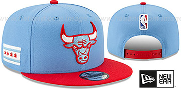 Bulls 19-20 CITY-SERIES SNAPBACK Sky-Red Hat by New Era
