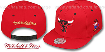 Bulls '1991 FINALS SNAPBACK' Red Hat by Mitchell and Ness