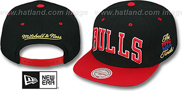 Bulls '1992 FINALS SNAPBACK' Black-Red Hat by Mitchell & Ness