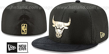 Bulls 2017 ONCOURT Black-Gold Fitted Hat by New Era