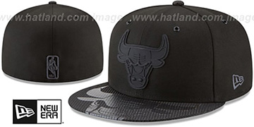 Bulls '2018 NBA ONCOURT ALL-STAR' Black-Black Fitted Hat by New Era