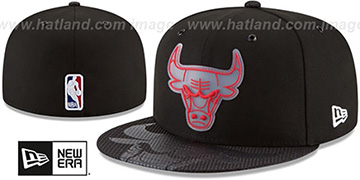 Bulls '2018 NBA ONCOURT ALL-STAR' Black-Red Fitted Hat by New Era