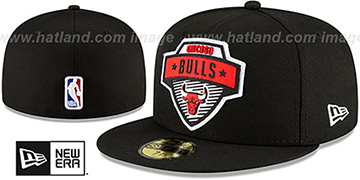 Bulls 2020 NBA TIP OFF Black Fitted Hat by New Era