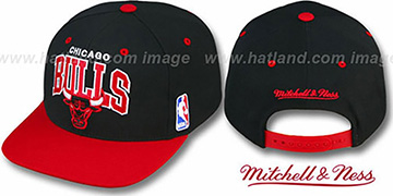 Bulls '2T TEAM ARCH SNAPBACK' Adjustable Hat by Mitchell and Ness