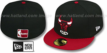 Bulls '2T TEAM-BASIC' Black-Red Fitted Hat by New Era