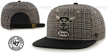 Bulls '60-MINUTES STRAPBACK' Black Hat by Twins 47 Brand