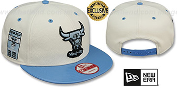 Bulls 6X 'BANNER SIDE-PATCH SNAPBACK' White-Sky Hat by New Era