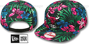 Bulls AMAZON BLOOM SNAPBACK Hat by New Era